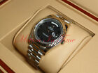 """Rolex Day-Date II President White Gold 41mm Fluted Bezel """"Black Out"""" Dial 218239"""