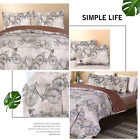 Deluxe Janice Boho Bohemian Floral Quilt Duvet Cover Pillow Case Bedding Set