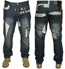MENS BRAND NEW ETO JEANS LATEST TAPERED FIT IN STONE WASH COLOUR 28-42