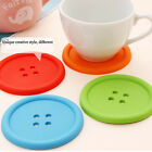Colorful Silicone Button Coaster Cup Mat Cushion Holder Coffee Pad Home Decorate