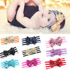 Baby Sequin Bow Head wrap Cotton Head Wraps Baby headbands Newborn HF