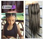 """4""""X4'' Top Closure Human Hair Swiss Lace Band Topper 8A Three Part Lace Closures"""