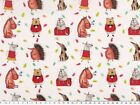 Cotton poplin, digital print: funny animals (dogs, cats, horses, hedgehogs)