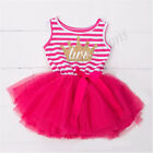 Baby Girls kids First 2nd Birthday Dress Outfit Tutu Skirt Princess Party gift