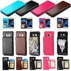 Samsung Galaxy Shockproof Phone Wallet Case Card Slot PU Leather Flip Kickstand