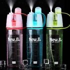 400ml/600ml Outdoor Sports Spray Drink Water Bottle Camping Portable Travel Cup