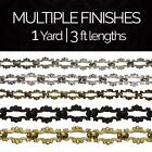 Solid Brass Decorative Ornate Motif Chandelier Light Chain #2 | (1 yard or 3 ft)