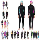 Women's Long Sleeve Beachwear Islamic Burkini  Full Cover Tops+Shorts Swimsuit