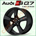 8 X Audi SQ7 Wheel Decal Sticker Brake Caliper Door Handle Emblem Logo Vinyl  A