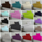 POLY-COTTON FITTED BED SHEETS NON IRON SINGLE DOUBLE KING SUPER KING  SIZES