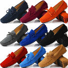 Suede Leather Lined Men's Driving Moccasin Season Series Outdoor Loafer Shoes