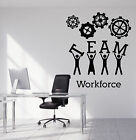 Wall Stickers Vinyl Decal Team Business Work Teamwork Office Interior z4699