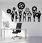 Wall Vinyl Decal Team Business Work Teamwork Office Interior Decor z4704