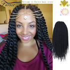 12inch grey Havana Mambo Twist Crochet Braids Black Curly Color 4 Hair Extension