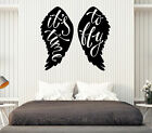 Wall Vinyl Decal Quote Words It's Time to Fly Home Interior Decor z4709