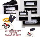 Replacement Cat Litter Trays Loo Box Filters - Control Odours - Choose Size Pack