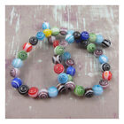 ROUND MIXED COLOURED GLASS BEADS *3 SIZES* BEADING JEWELLWRY MAKING CRAFTS BEADS