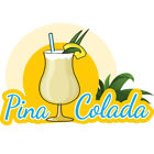 PINA COLADA  Concession Decal sign cart trailer stand sti...