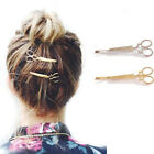 Scissor's Hair Clip Silver Gold Hair Pin Grips Clips Barrette Accessory UK