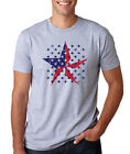 AMERICAN FLAG STARS Americana patriotic veteran Father's Day 4th of July T-Shirt
