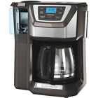 BLACK+DECKER Mill and Brew 12-Cup Programmable Coffee Maker with Grinder, CM500