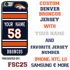 Custom DENVER BRONCOS Phone Case Cover w Your Name & Jersey Number IPhone