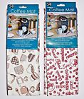 Coffee Mat 1-Pack or 2-Pack ~ You Choose Design ~ New ~ Schroeder and Tremayne