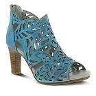 New In Box Womens L'Artiste AMORA-TQ Turquoise Leather Peep Toe Pumps