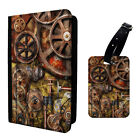 Steampunk Cogs Printed Luggage Tag & Passport Holder - T2705