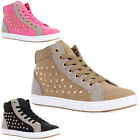 81W WOMENS SYNTHETIC LADIES STUDDED HIGH TOP BASKETBALL TRAINERS PUMPS SIZE 3-8