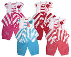Girls Top Shorts Stripe Corsage Bow Gem Set Kids Outfit 3-6 Years SALE