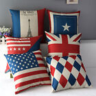 "17"" Square National Country Flag Home Car Decor Throw Pillow Case Cushion Cover"