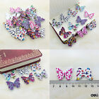 50/100Pcs Bulk Stylish Butterfly Wooden Sewing Buttons Scrapbooking 2 Holes