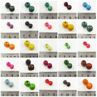 PAINTED WOODEN BEADS *14 COLOURS* *10 SIZES* CRAFTS BEADING JEWELLERY MAKING
