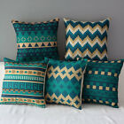 "17"" Floral Ethnic Stripes Home Sofa Decor Waist Throw Pillow Case Cushion Cover"