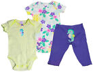 Carter's Baby Girl 3 Piece Set Hawaiian Seahorse