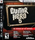 Guitar Hero 5 (Sony PlayStation 3,  2009) Rated T for Teen