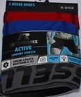Mens New Underwear Russel 2 Pack Boxer Briefs With Mesh Fly