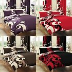 Reversible Grandeur Duvet/ Quilt Cover Bedding Set With Pair of Pillow Case