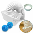 Condenser Vent Kit Box&Hose + Softener Balls for White Knight C44A7B Tumble Drye