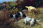 Three Setters On The Hunt by Edmund Henry Osthaus Art Reproduction