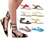 WOMENS LADIES PEEP TOE STRAPPY SUMMER FLAT FLIP FLOP HOLIDAY SANDALS SHOES SIZE