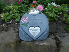 Personalised Forever Loved Memorial Heart with Flowervase and Heart Plaque