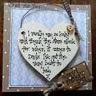 Handmade Father's Day card keepsake wood heart lovely unusual gift