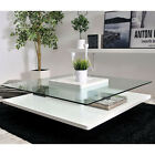 Table BOSS Glass Tabletop White Gloss Modern New