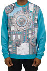 New Authentic Versace Jeans Neoprene Kaleido Sweatshirt Blue Man Jumper Pullover