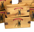 French Bulldog Vintage Box Frenchie Dog Treats Great Gift Storage Crate Single