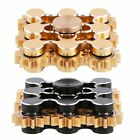 EDC 9 Gear Teeth Hand Fidget Spinner Linkage Metal Finger ADHD Focus Bearing Toy