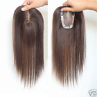 HOT Hand-made mono 100% Human Hair Topper Hairpiece Toupee Top Piece For Women