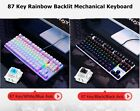 Lingyi Black Widow 87 Key USB Wired Mixed Backlight Mechanical Gaming Keyboard